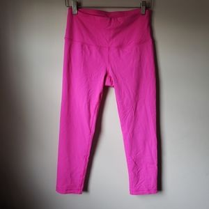 Hot Pink Cropped Leggings 90 Degree by Reflex